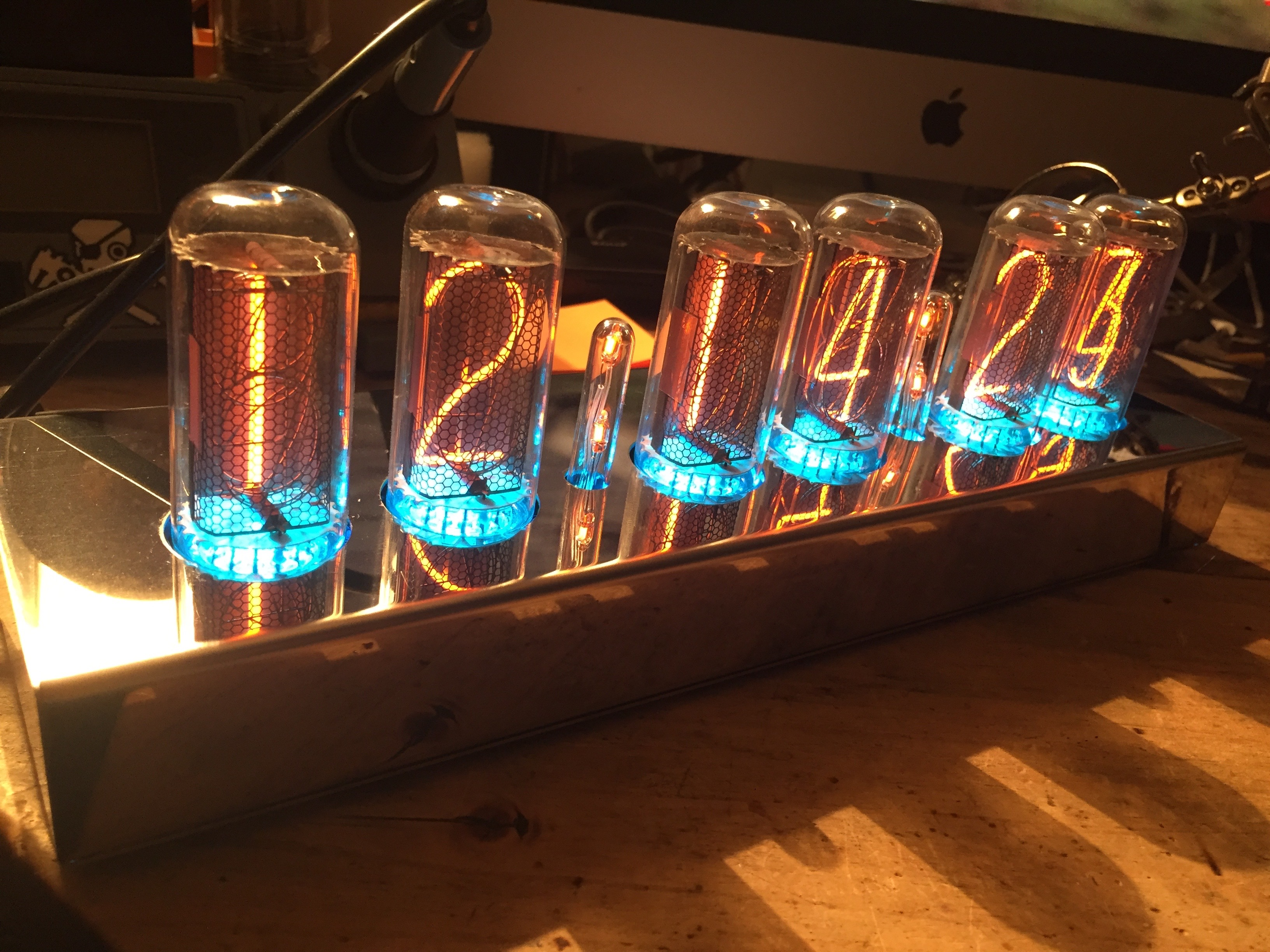 big Nixie tube clock